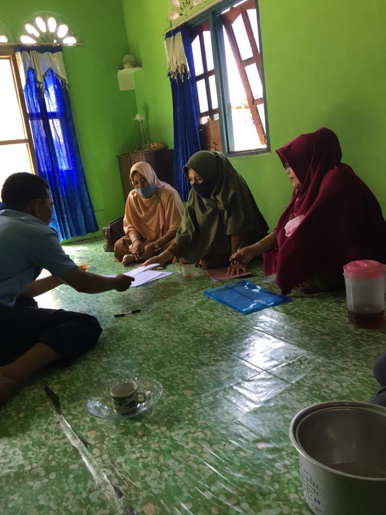 Pembinaan dan penilaian Poklahsar Anak Nelayan Mandiri, Kel. Setokok Kec. Bulang.