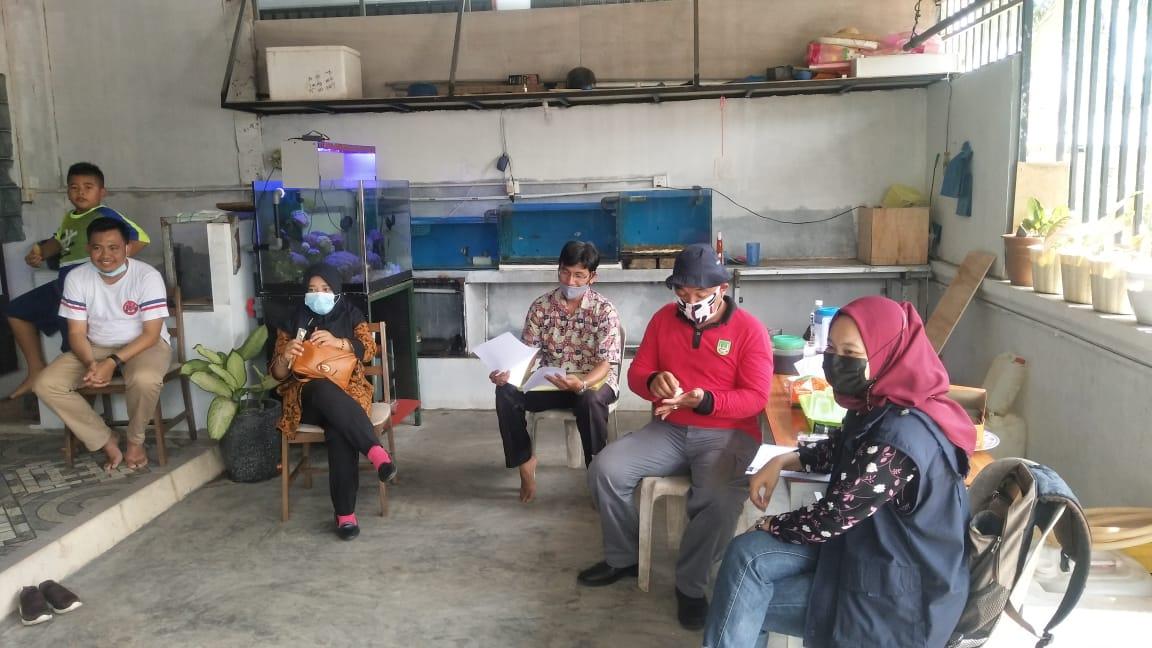 Monitoring Pokdakan Xena Mandiri Sukses, Pembudidaya ikan hias air laut di Kec. Bengkong.