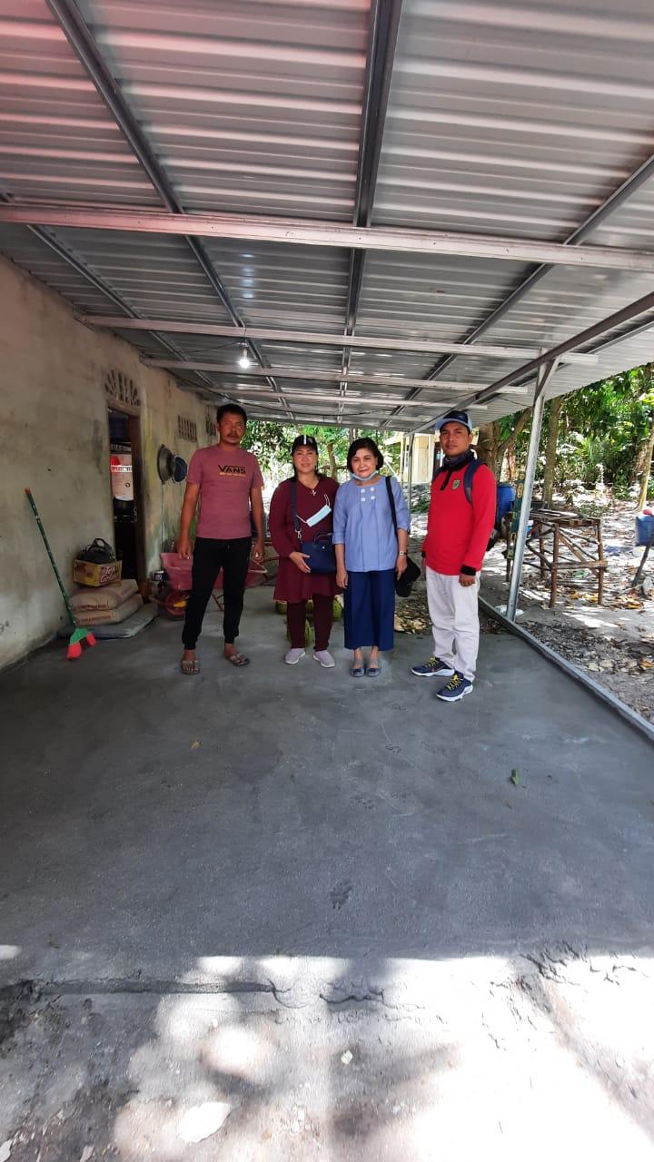 Melaksanakan verifikasi terhadap Poklahsar Petong Jaya di Pulau Petong Kec Galang sebagai calon penerima bantuan IFM pengalihan dari Poklahsar Surya Ice.