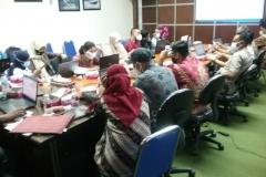 Mengikuti rapat pra validasi nasional Satu Data Perikanan di Dinas Kelautan dan Perikanan Provinsi Kepri.